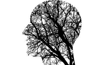 Busto humano sobre fondo de neuronas