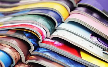 Plano detalle revistas