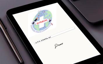 Dispositivo móvil con página web abierta